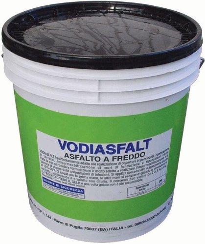 Asfalto a Freddo kg.18 Vodiasfalt Emulsione Bituminosa Impermeabilizzante e Protettivo per edilizia