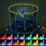 teyiwei 16 Farben Trampolin Streifen Licht 50 LED Wasserdicht Led String Licht Cooper Draht 3AA Batterie Weihnachten Licht für Trampolin Hoop/Urlaub/Fee Hochzeit/Party Dekoration (5M-50 LED)