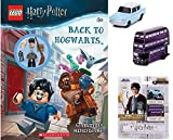 Harry Mini Figure Brick Fig Back to Hogwarts Activity Book Bundled with Back to Magical Wizards Harry Potter Nano Rides Knight Double Decker Bus & Ford Anglia Mini Hollywood Series 2 Items