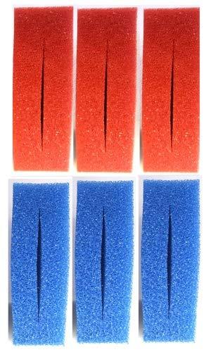 Pondlife Ersatzfilterschwamm Set für Oase Biotec 10 / 3X blau + 3X rot