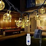 Guirnaldas Luces Exterior Solar, Luces Solares Led Exterior Jardin, 8M 50 LED Cadena de Luces, USB Recargable 8 Modos,...