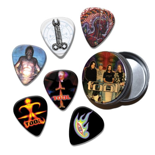 Tool Band Set of 6 Loose Chitarra Picks Plettri in Tin ( Collection D )