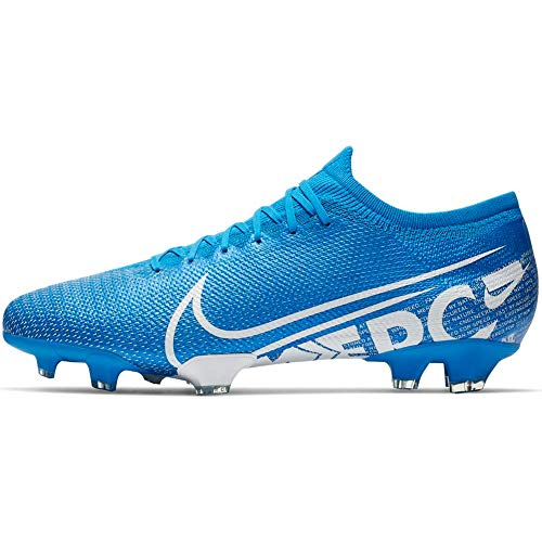 Nike Mercurial Vapor 13 Pro Firm Ground Cleats (11.5 M US, Blue/White)