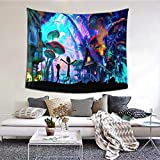 Rick and Mor-ty Tapestry Kids 3D Anime Wall Hanging Art Tapestries Wall Banner Gifts Aesthetic for Party/Bedroom/Living Room/Home Decor 60 x 50 Inches