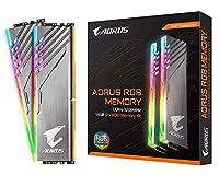 ギガバイトAORUS RGBメモリDDR4 16GB 2x8GB 3200MHz - マザーボード
