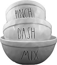 Artisan Collection Rae Dunn Set of 3 Nesting Mixing Ceramic Bowls - Pinch, Dash, Mix
