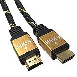 JAMEGA - 1,5m Ultra HDTV 4K Premium HDMI Kabel 2.0b | Highspeed mit Ethernet 4K HDR ARC CEC 3D 2160p U-HD | HDMI 2.0b 2.0a 2.0 1.4a | 4 Fach geschirmt | 24K Vergoldet