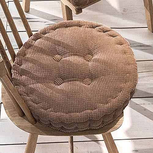 Xpnit Sitzkissen für Stuhl, quadratisch, rund, 10 cm dick, 40 x 40 x 8 cm, Braun