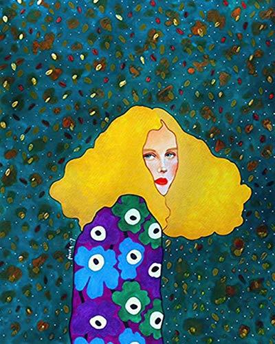 Pintura por números, kit de pintura a mano para niña, lienzo, arte de pared, cuadro acrílico Diy, pintura al óleo por números, decoración del hogar, regalo A10 40x50cm