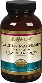 Lifetime Calcium Magnesium Potassium, Vitamin D & Boron | Support Bone & Muscle Health | Easy Absorption | 120 Capsules, 3...