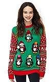 Pinguin Bommel Weihnachtspullover