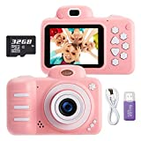 KUMUKA Kids Camera for Girls, 8.0MP Child Camera with 2.4 Inch Screen and 32GB...