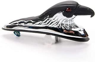 Metal Eagle Head Fender Ornament Statue fit Motorcycle Motorbike Front Fender (Chrome Black)