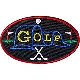 Parche de golf para planchar o coser en ropa, insignia bordada, diseño de palos de golf