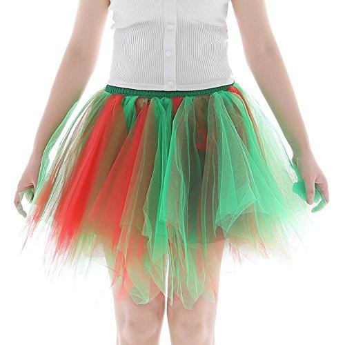 FRAUIT dames dansen rok plissé plissé petticoat kort Tutu minirok retro onderrok balet dansjurk tule rok rockabilly petticoat tutu kort ballet dansjurk baljurk avondjurk carnaval party rok