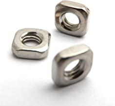 Size : M3 no logo RQBHD 100pcs//lot M3 M4 M5 M6 M8 Square Thin Nut A2 304 Stainless Steel Square Nuts DIN 562