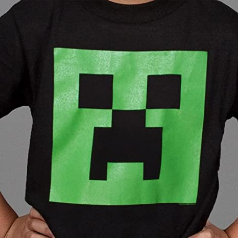 Minecraft T-shirt /à manches courtes sous licence officielle Mojang pour enfants de 3 /à 14 ans