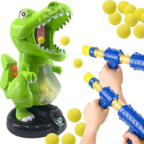 Dinosaur Shooting Toys for Kids Target Shooting Games with 2 Air Pump Guns and 48 Soft Foam product image