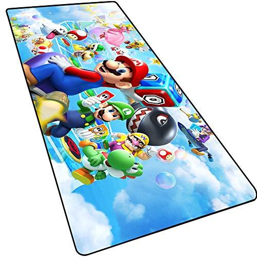 HNT1M Gaming Mauspad | XXL Grosses 900x400mm |Anime-Mausunterlage Schreibtischunterlage | Wasserdicht | rutschfest | Matte für Computer, PC und Laptop Mario-1