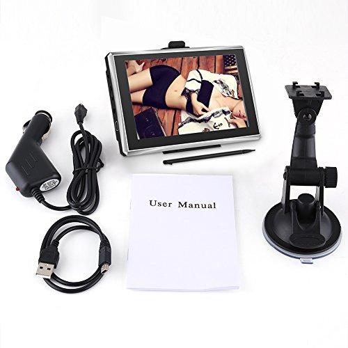 5 pulgadas de pantalla táctil Sistema de mapas de navegación GPS Navegador GPS internacional Dispositivos 128M 8GB FM con Bluetooth Mapa gratuito para automóviles (Europa)
