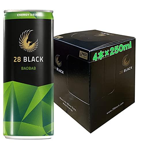 28 BLACK BAOBAB | 静かなるエナジィ (バオバブ, 4本パッケージ) エナジードリンク