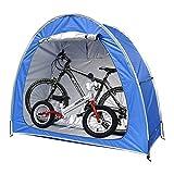 EEUK Carpa para Bicicletas Exterior, Cobertizo para Almacenamiento de Bicicletas con diseño de Ventana Impermeable al Aire Libre A Prueba de Polvo(200 * 165 * 80 cm)(Color:Azul)