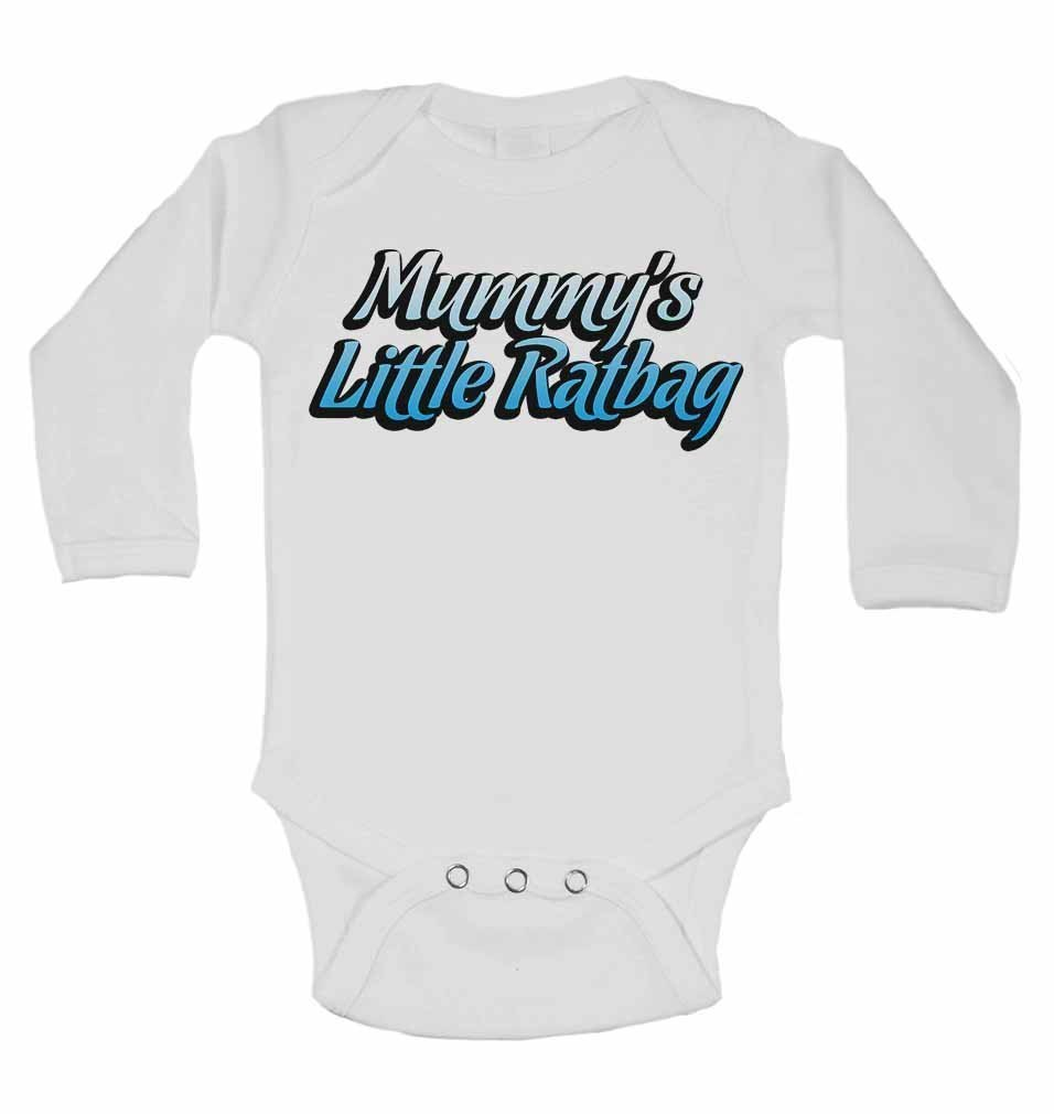 Mummy S Little Ratbag Personalised Long Sleeve Baby Vests Bodysuits Baby Grows For Boys Girls White 0 3 Months Baby