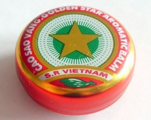 3g Golden Star Balm - Cao Sao Vang (Only From Vietnam) for Couchsurfing by CENTERPHARCO