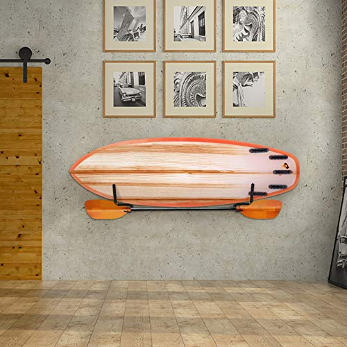 SOULONG Supporto da Parete per Kajak, 2 Pezzi Cavalletti per Kayak, Kayak Canoe Resistente a Parete Holder Storage Rack Wall Mounted Kayak,Supporto da Muro per Kayak e Paddle, Nero