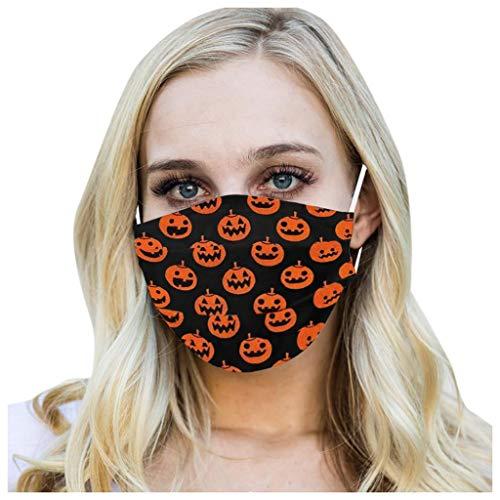 MORRAN Adult Children Halloween Print Face Máce Dustproof Windproof Washable Cotton Bandana
