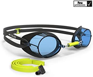 Swimming Goggles with Prescription Lenses 900 Swedish - Black Blue, Clear Lenses for Training and competitions. Developed with Fabien Gilot, Olympic Champion and Technical Partner of Nabaiji.