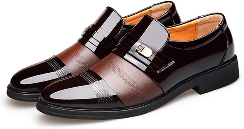 FRWANG Glnzend Herren Lackleder Formelle Business Schuhe Handgefertigte mit Gummisohle für Tanzparty Ballsaal