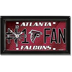 License Plate Clock # 1 Fan - Atlanta Falcons