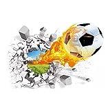 Meisijia 3D Football Pause Amovible Wall Sticker Tattoo Enfants Nursery Chambre Football Stickers décoratifs pour la Maison Fond...