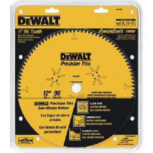 DEWALT DW7296PT Precision Trim 12-Inch 96 Tooth ATB Crosscutting Saw Blade with 1-Inch Arbor
