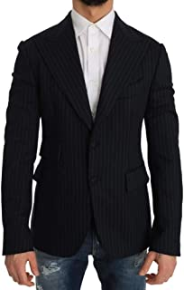 Dolce & Gabbana Gray Striped Slim Fit Wool Jacket Blazer 48 | M