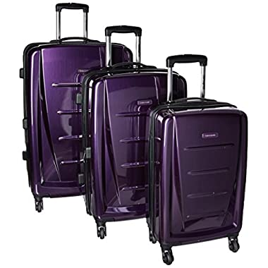Samsonite Winfield 2 3PC Hardside (20/24/28) Luggage Set, Purple