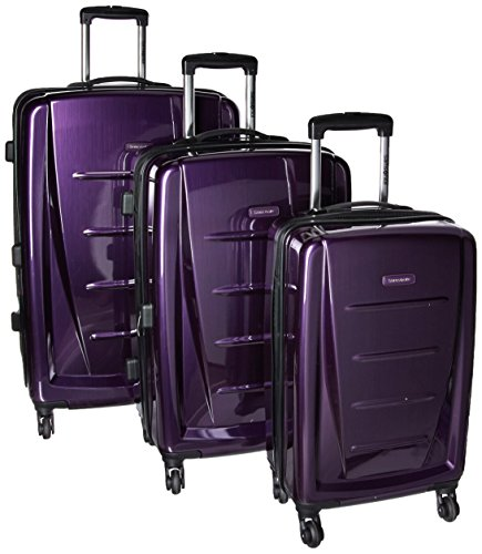 Samsonite Winfield 2 Hardside Expandable Luggage with Spinner Wheels, Purple, 3-Piece Set (20/24/28)