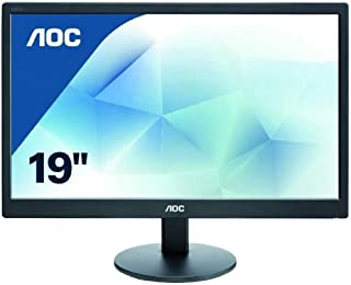 AOC 18.5-inch (46.99 cm) LED Backlit Computer Monitor with 1366 x 768 Resolution - E970SWN (Black)