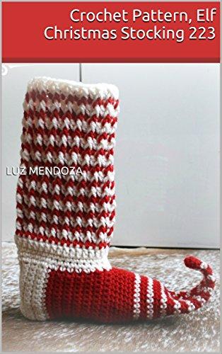 Crochet Pattern, Elf Christmas Stocking 223