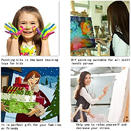 with Frame Flowers and Fruits 16X20 Inch Paint by Numbers Kits DIY Oil Painting Home Decor Wall Value Gift