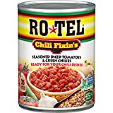 ROTEL Chili Fixin's Seasoned Diced Tomatoes and Green Chilies, 10 Ounce