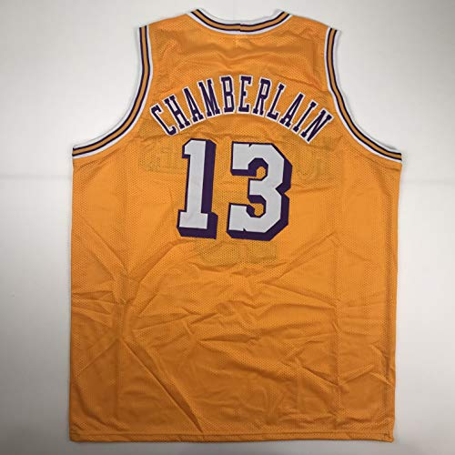 Unsigned Wilt Chamberlain Los Angeles LA Yellow Custom Stitched Basketball Jersey Size Men's XL New No Brands/Logos