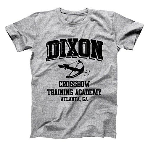 USA Direct Daryl Dixon Crossbow Training Academy Walking Dead Zombie Mens Shirt Small Gray