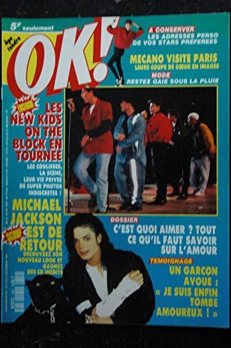 OK ! âge tendre 829 DEC 1991 Michael Jackson - New Kids on the block - MECANO - Josiane Balasko