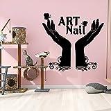 yaonuli Pegatinas de Pared Personalizadas para salón de uñas Pegatinas de Pared para decoración del hogar Pegatinas de Pared para Arte 42x43cm