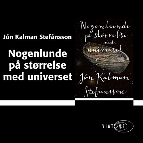 Nogenlunde på størrelse med universet [Somewhat the Size of the Universe] audiobook cover art