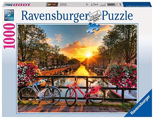 Ravensburger Puzzle 19606 - Fahrräder in Amsterdam - 1000 Teile Puzzle für Erwachsene und Kinder ab 14 Jahren