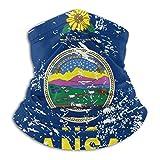 asdew987 Halfter Gesichtsschal, Kansas Staatsflagge, Halstuch, einfach für Volleyball-Halstuch, 25 x 30 cm