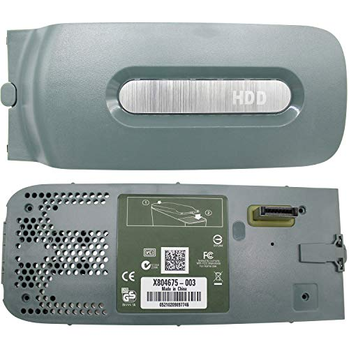 """OSTENT HDD Hard Disk Drive Enclosure 2.5"""" SATA Case Shell Compatible for Microsoft Xbox 360 Color Gray"""